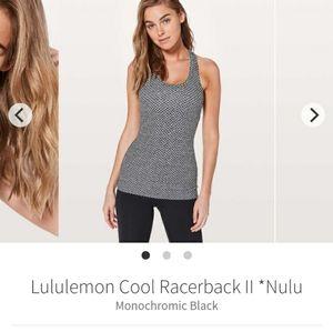 *Nulu* Lululemon Cool racerback tank II